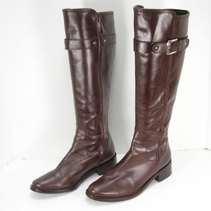 COLE HAAN INDRIA LEATHER KNEE HIGH RIDING BOOTS 9